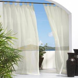appleton solid sheer outdoor tab top single curtain panel