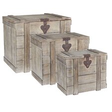 3 Piece Wooden Home Chest Set by Household Essentials