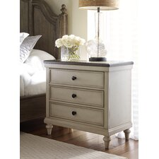 Osgood 3 Drawer Nightstand by One Allium Way