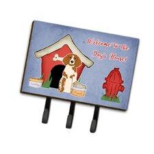 Dog House Brittany Spaniel Leash or Key Holder by Caroline's Treasures