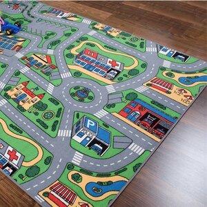 Kinderteppich Straße in Grau