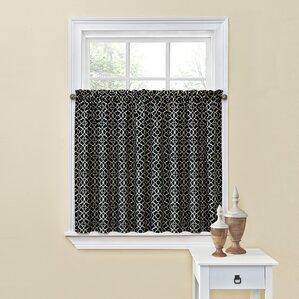 lovely lattice tier curtain set of 2