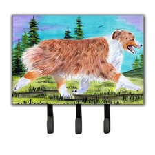Australian Shepherd Leash Holder and Key Hook by Caroline's Treasures