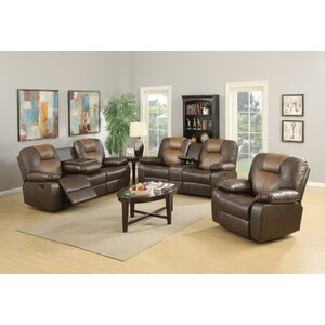 Gladding Bonded Leather Recliner Sofa by Red Barrel Studio
