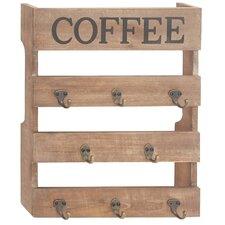 Coffee Wood Metal Wall Hook by Gracie Oaks