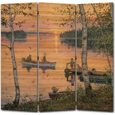 55 x 55 Lakeland Sunset 3 Panel Room Divider by WGI-GALLERY