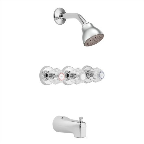 Moen Chateau Thermostatic Shower and Tub Faucet Trim with Knob