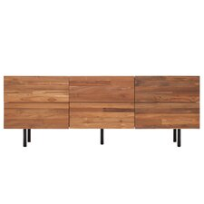 Reclaimed Teak 6 Drawer Low Dresser by EQ3