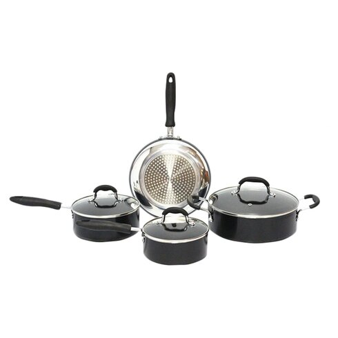 Gourmet Chef Non-Stick 7 Piece Cookware Set