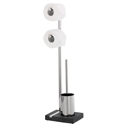 Menoto Wall Mounted Toilet Roll and Brush Holder