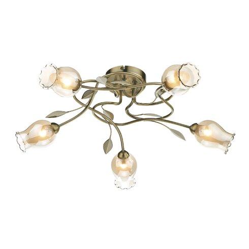 Clifton 5 Light Semi-Flush Ceiling Light