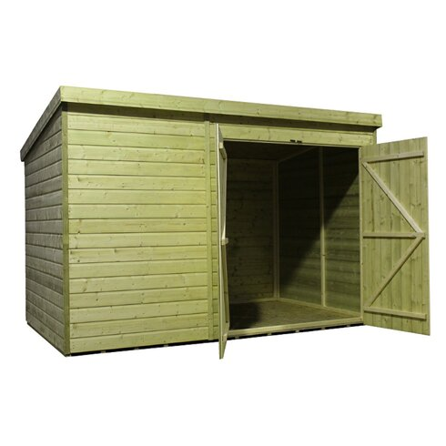 14 x 6 Wooden Lean-To Shed