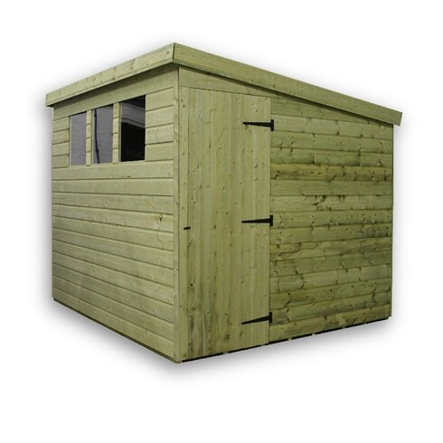 8 x 6 Wooden Lean-To Shed