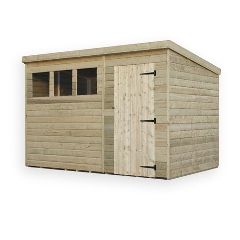 10 x 6 Wooden Lean-To Shed