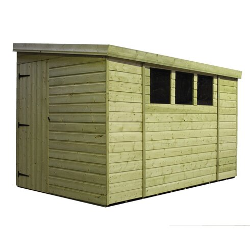 10 x 7 Wooden Lean-To Shed