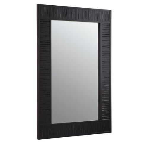 "Mersing 24"" W x 36"" H Wood-Frame Mirror"