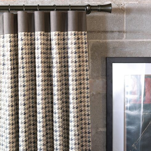 Norris Geometric Semi-Sheer Pinch Pleat Single Curtain Panel