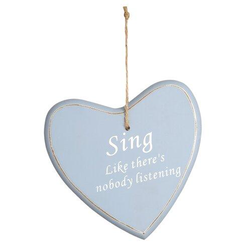 Hanging 'Sing' Heart Wall Decor