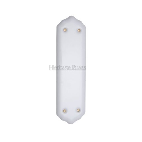 Finger Plate in White