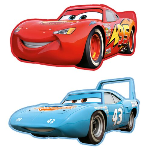2 Piece Cars Mini Foam Elements Graphic Art Wall Sticker Set
