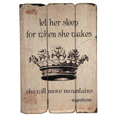 Napoleon Proverb Graphic Art Plaque