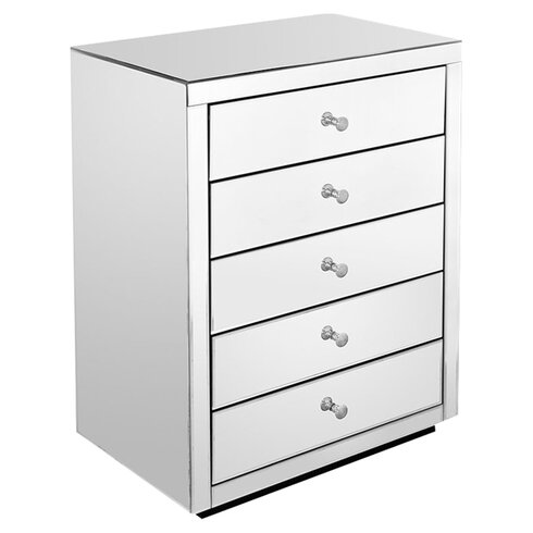 Piana Mirror 5 Drawer Chest of Drawers