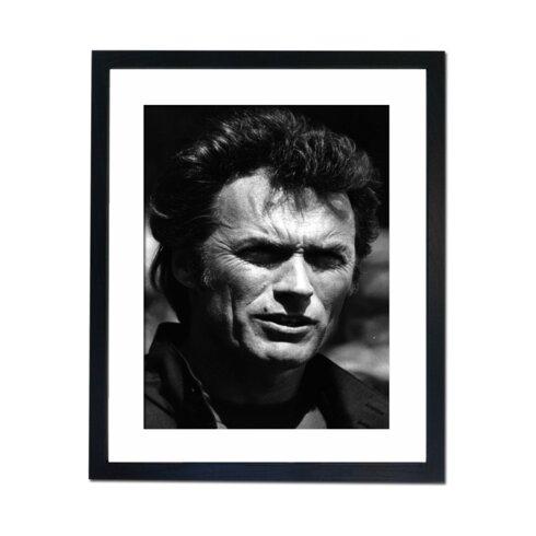 Clint Eastwood Portrait Framed Photographic Print