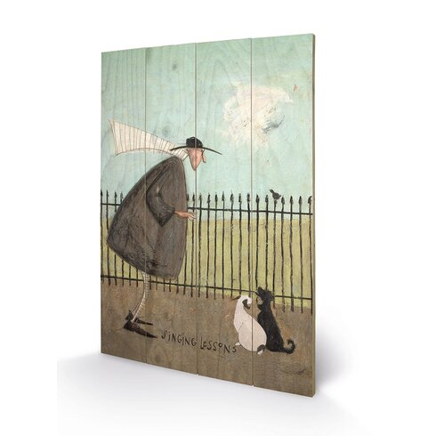 Singing Lessons by Sam Toft Art Print Plaque