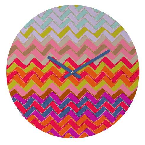 Sharon Turner Geo Chevron Wall Clock