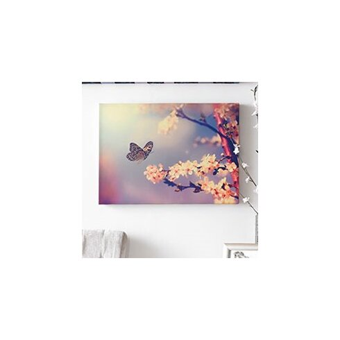 Butterfly Branch Photographic Print on Canvas