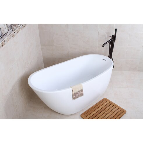 Kingston Brass Aqua Eden 59 Quot X 28 6 Quot Soaking Bathtub