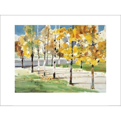 Autumn Trees by Law Wai Hin Art Print