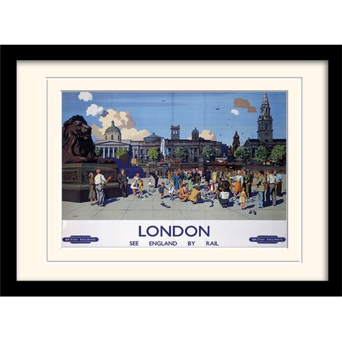 "London ""9"" Mounted Framed Vintage Advertisement"