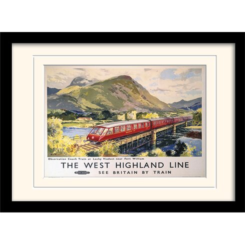 The West Highland Line Framed Vintage Advertisement
