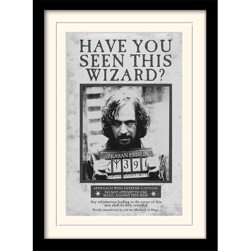 Harry Potter Sirius - Wanted Framed Vintage Advertisement