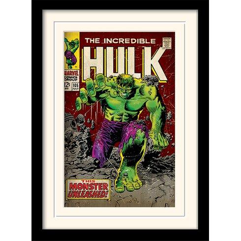 """Incredible Hulk """"Monster Unleashed"""" Framed Vintage Advertisement"""