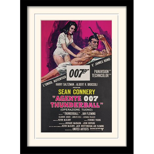 "James Bond ""Thunderball - Italian"" Framed Vintage Advertisement"