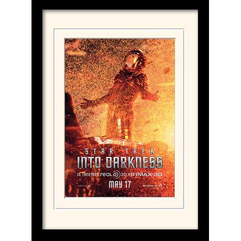 Into Darkness - Spock Banner by Star Trek Mounted Framed Vintage Advertisement