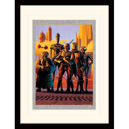 Star Wars Bounty Hunters Framed Vintage Advertisement