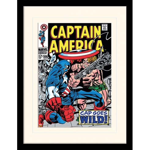 Captain America CAP Goes Wild Framed Vintage Advertisement