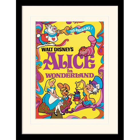 Alice in Wonderland 1974 Mounted Framed Vintage Advertisement