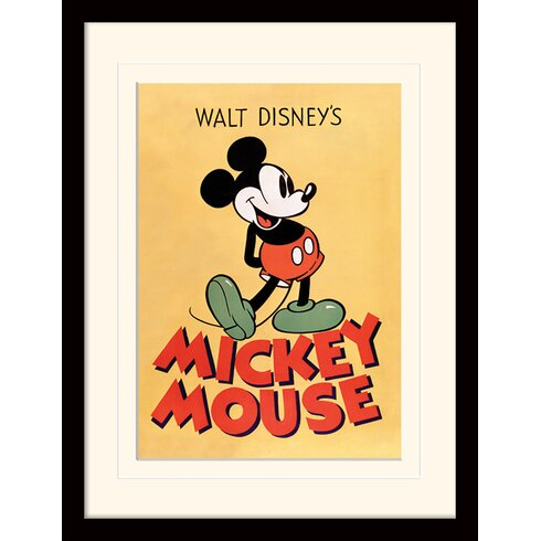 Mickey Mouse Mickey Mounted Framed Vintage Advertisement
