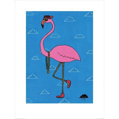 Mulga, Frederick the Flamingo Graphic Art
