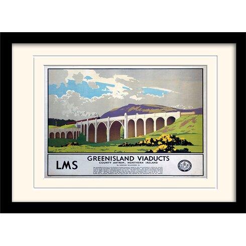 Greenisland Viaducts Framed Vintage Advertisement
