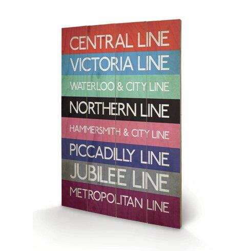 London Transport 9 Typography Plaque