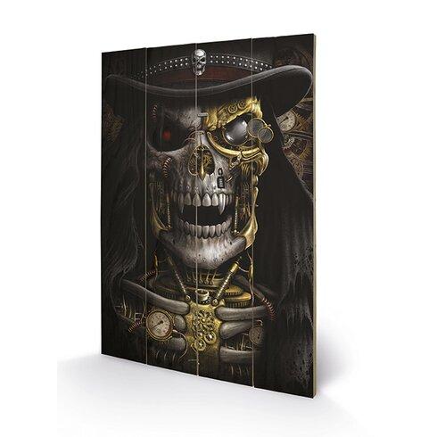 Spiral Steampunk Reaper Graphic Art Plaque