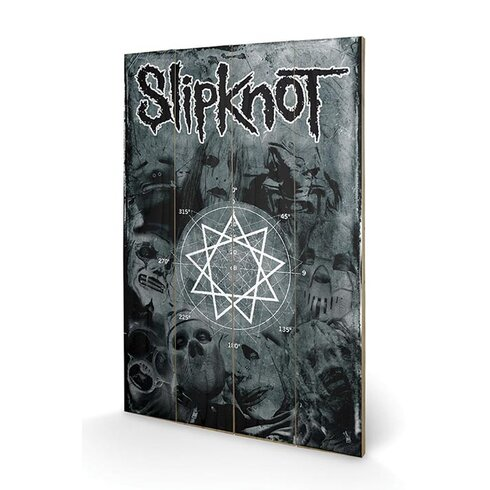 Slipknot Pentagram Graphic Art Plaque