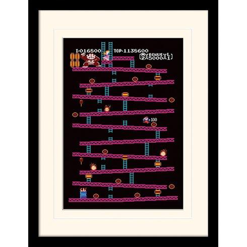 Donkey Kong NES Framed Graphic Art