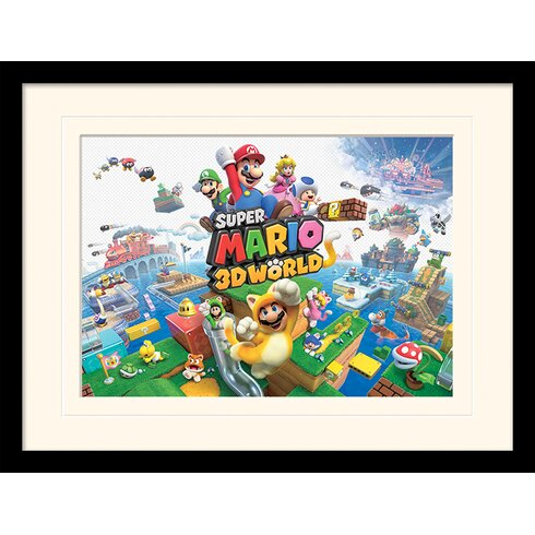 Super Mario 3D World Framed Vintage Advertisement