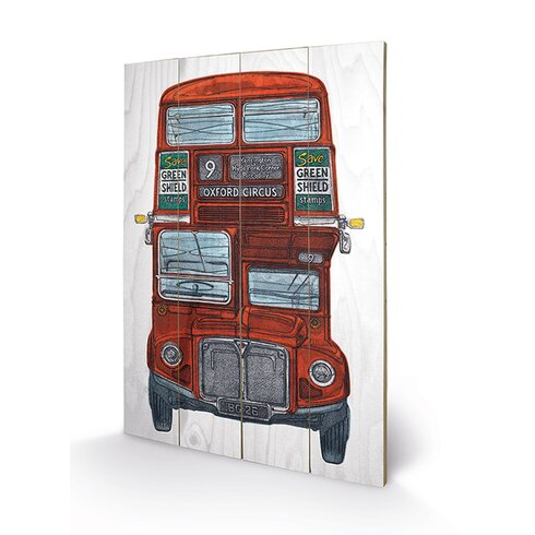 Routemaster by Barry Goodman Graphic Art Plaque